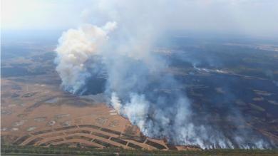 400 hectare natuur is verwoest door de brand