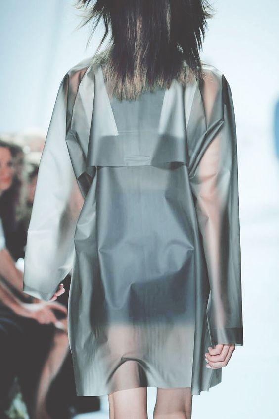 Lacoste rain coat, plastic trench: