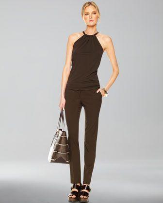 Matte Jersey Halter Top & Samantha Skinny Pants by Michael Kors at Neiman Marcus.