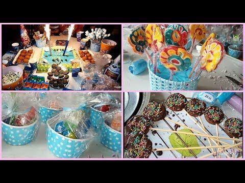 افكار لتحضير و تزيين طاولة عيد ميلاد جميلة و اقتصادية للبنات للبنات و الاولاد لقطات من الحفلة Youtube Food Breakfast