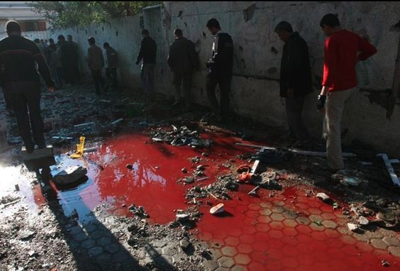 A river of blood flows in Gaza.