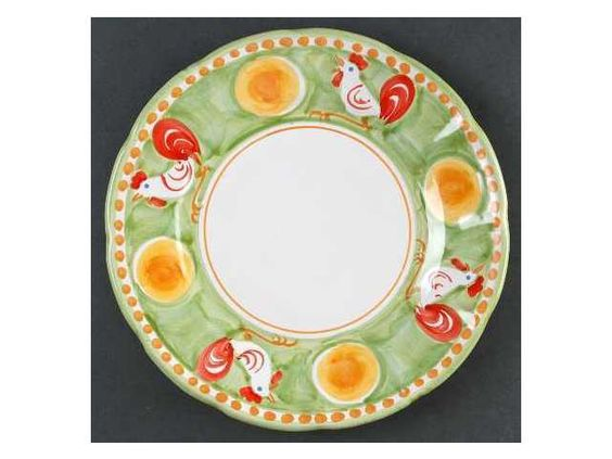 (Italy) Campagna-Rooster (Gallina) Dinner Plate, Fine China Dinnerware