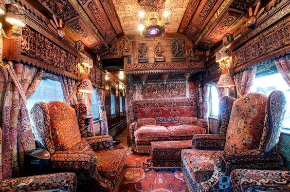 Steampunk Tendencies | Interior of The Patron Tequilla Express