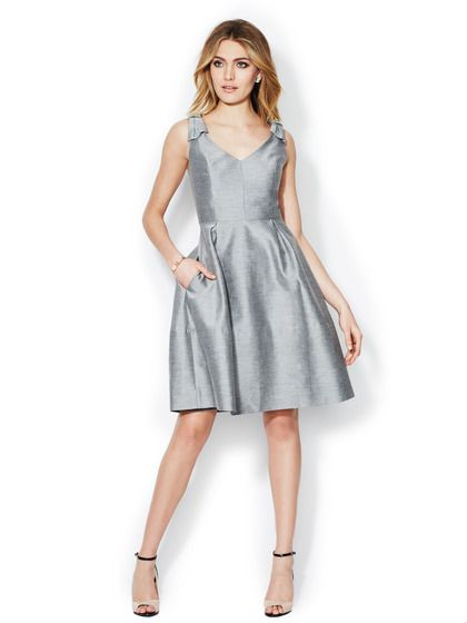 Anderson Cotton Silk Fit and Flare Dress