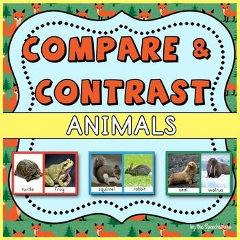These cards were designed for both drill and play in therapy. Each page has 8 sets of pictures that can be used for comparing and contrasting.  The cards support the following Common Core State Standards:CCSS.ELA-Literacy.L.K.1bUse frequently occurring nouns and verbs.CCSS.ELA-Literacy.SL.K.4Describe familiar people, places, things, and events and, with prompting and support, provide additional detail.Includes:40 Sets of Cards (front and back)How to prepare the cards:Print double sided and…