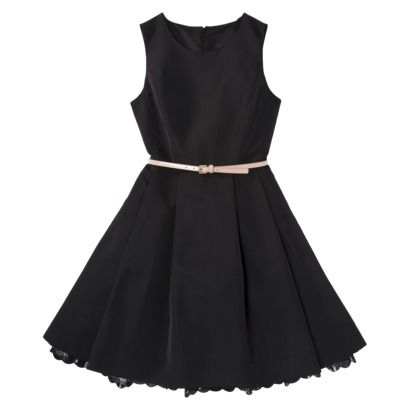 Jason Wu for Target® Flared Dress in Black with Nude Patent Belt