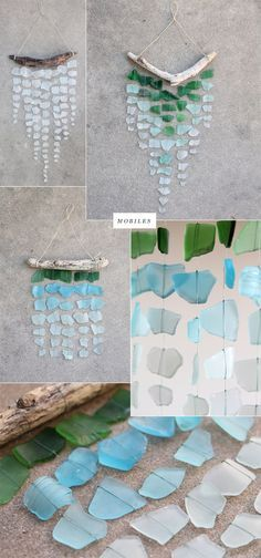Sea Glass Wind Chime! Gotta do something with all the sea glass I find...