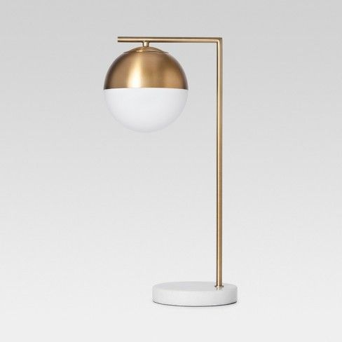 Geneva Glass Globe With Marble Base Task Lamp Brass Project 62 Task Lamps Glass Table Lamp Desk Lamp