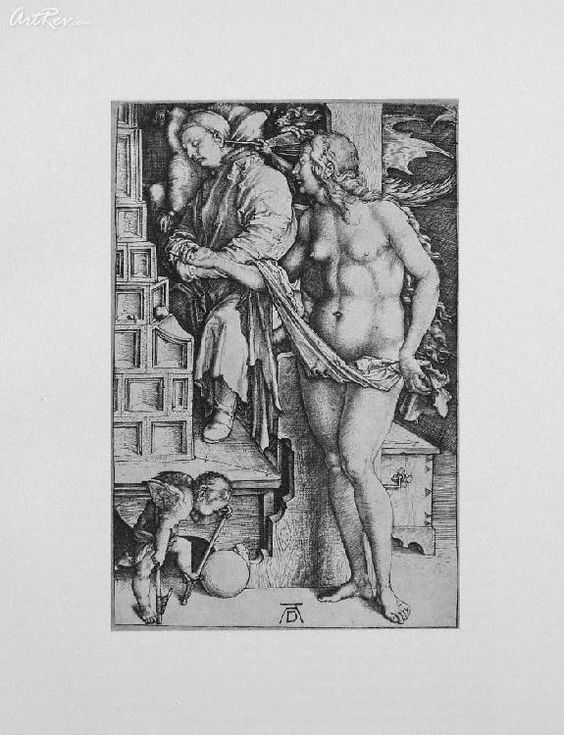 The Dream By Albrecht Durer - Original Lithographic Bookplate