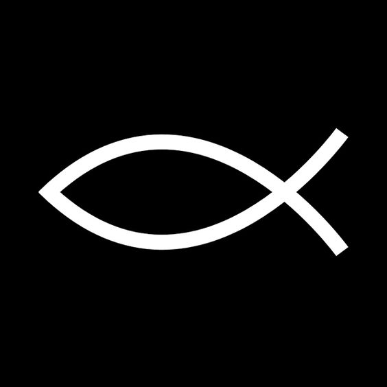 Jesus fish ichthys invented as a secret code for for Christian fish sign
