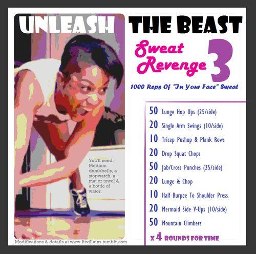 Unleash The Beast 3: Sweat Revenge! Intense 1000 Rep Total Body Challenge: