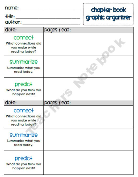 Chapter Book Graphic Organizers#Repin By:Pinterest++ for iPad#