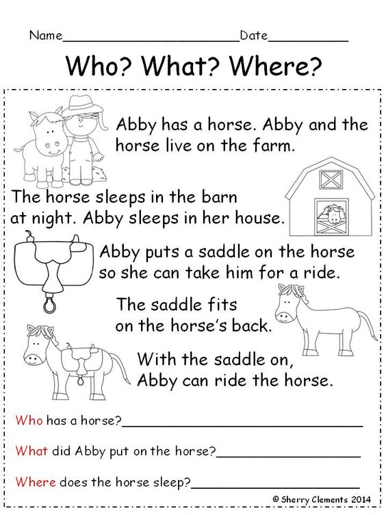 Worksheets Sentence Comprehension Worksheets pinterest the worlds catalog of ideas reading comprehension who what where this 15 page pack includes a short story with matching black and white pictures