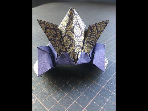 Kabuto One Origami Paper Make 兜 かぶと 1枚の折り紙で作る Youtube 折り紙 かぶと 折り紙 折り紙 作り方