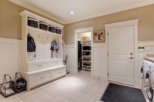 @Michelle Travis Mudroom/laundry room with bonus closet.
