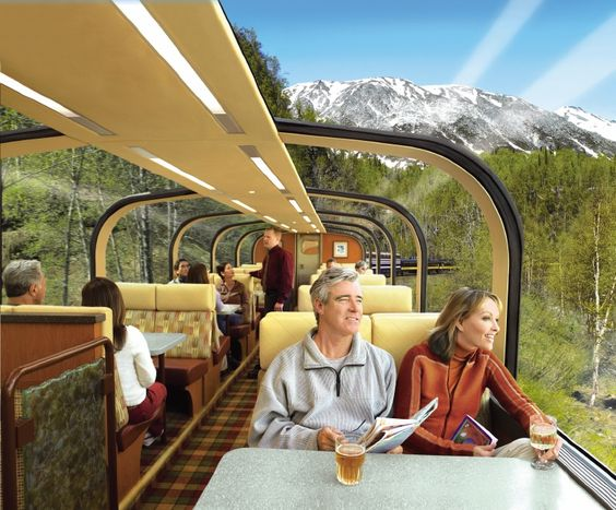 Direct to the Wilderness Rail Service, Denali, Alaska by Princess Cruise Line.  Straight from your cruise in Whittier to a beautiful lodge in Denali National Park.