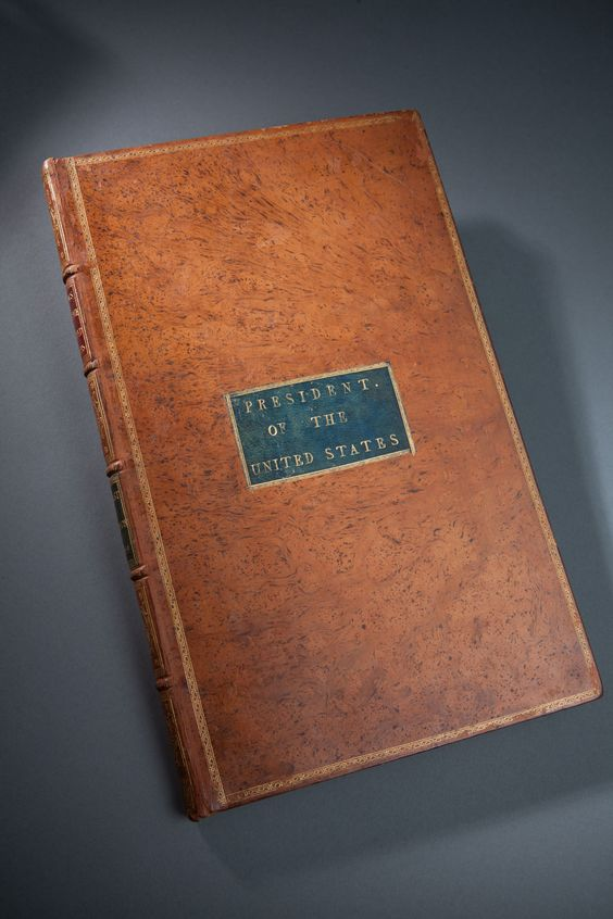 George Washington's personally signed copy of the Acts of Congress. This rare volume includes Washington's personal copy of the Constitution. Dated to 1789, this treasure was in a private collection for many years until bought at an estate auction in 2012. Today, it is the property of Mount Vernon and on permanent display there.