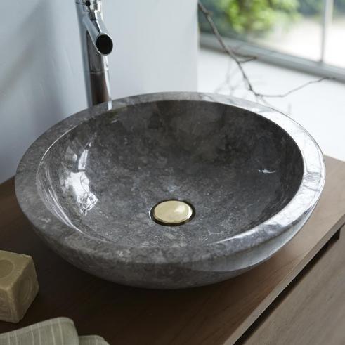 Waschbecken Aus Marmor Calypso Grey In 2020 Waschbecken Marmor