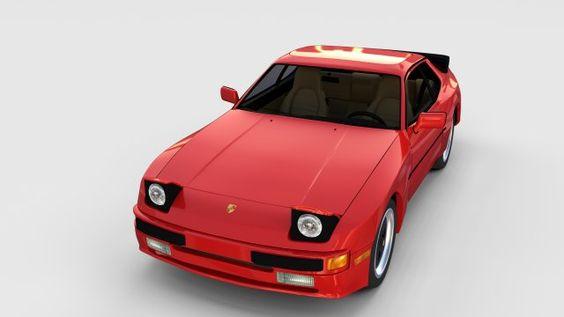 Porsche 944 with interior rev 3D Model .max .c4d .obj .3ds .fbx .lwo .stl @3DExport.com by dragosburian @3