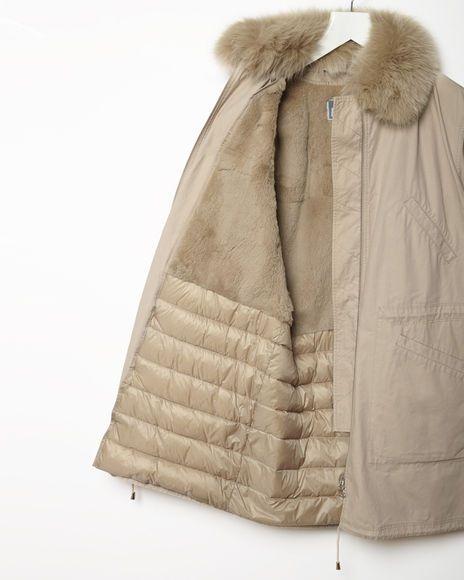 Army by Yves Salomon | Cotton Coat Fox Collar | La Garçonne