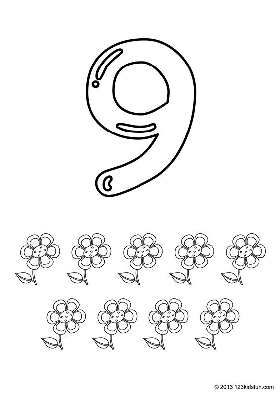 Free Printable Number Coloring Pages 1 10 For Kids 123 Kids Fun Apps Math Fact Worksheets Free Printable Numbers Toddler Free Printables
