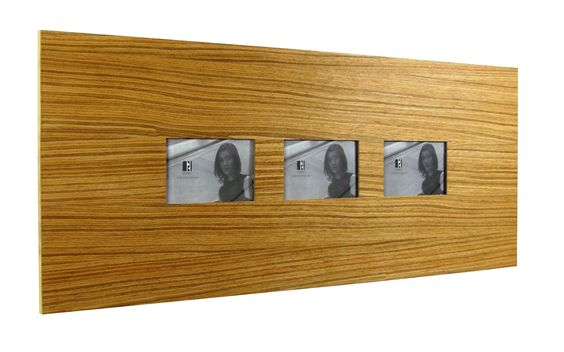 Three Slot Wood Picture Frame