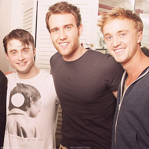 Photo of Matthew Lewis & his friend actor  Daniel Radcliffe - Harry Potter
