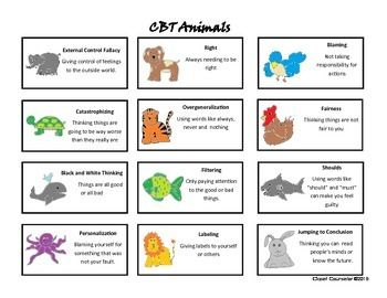 CBT Animals:Stories and Worksheets to Teach Children about ...