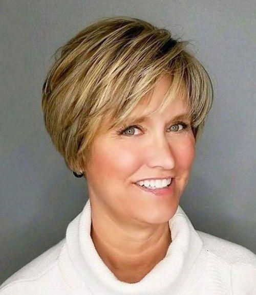 New Short Haircuts For Older Women With Fine Hair In 2020 Thick