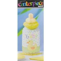 Baby Bottle Centerpiece - Baby Duck