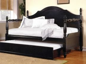 Black Poster Daybed for mom in nursery.  Acme Furniture 12082