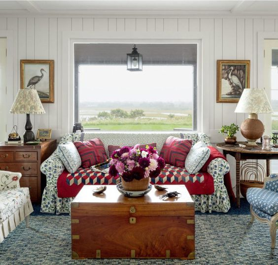 I nearly fell off my chair when I first saw a glimpse of this Nantucket home designed by Markham Roberts!! Architectural Digest published a tour in its latest issue and I'm thrilled to see something… View Post