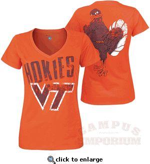 Virginia Tech Champion Ladies V-Neck Tee