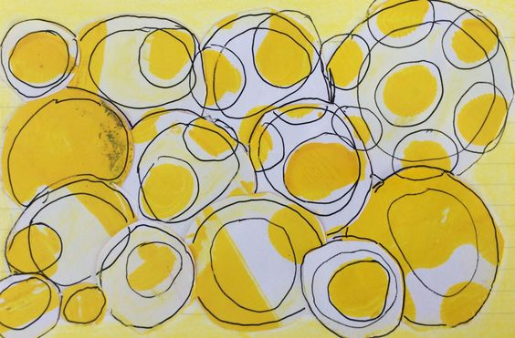 Daisy Yellow Index-Card-A-Day challenge 2015 by Debbie Corke