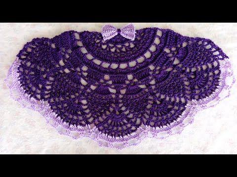 Saia De Croche Para Pano De Prato Modelo 04 Parte 01 Youtube Saia De Croche Roupas De Croche Para Bonecas Rede De Croche
