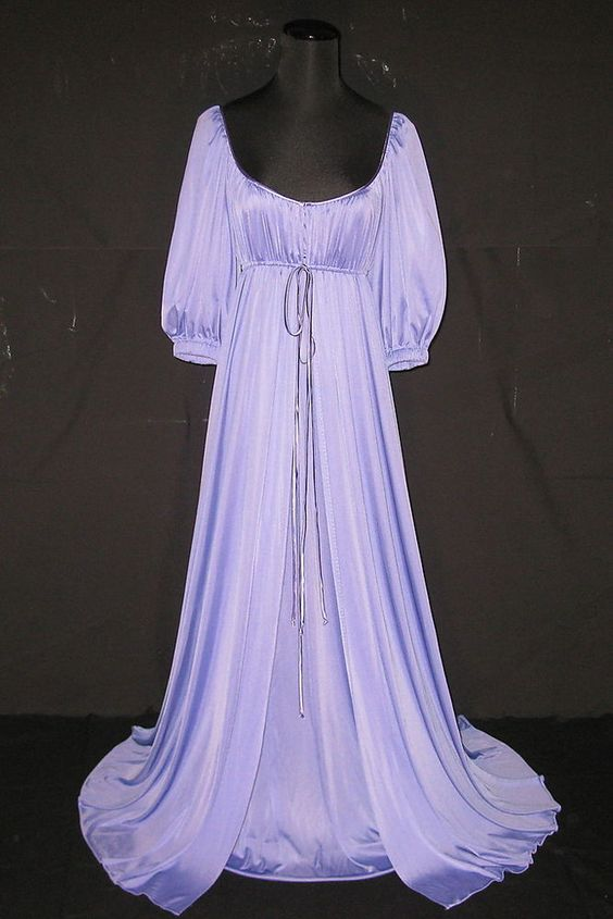 Lucie Ann Lavender Long Elegant Nightgown Amp Robe Peignoir