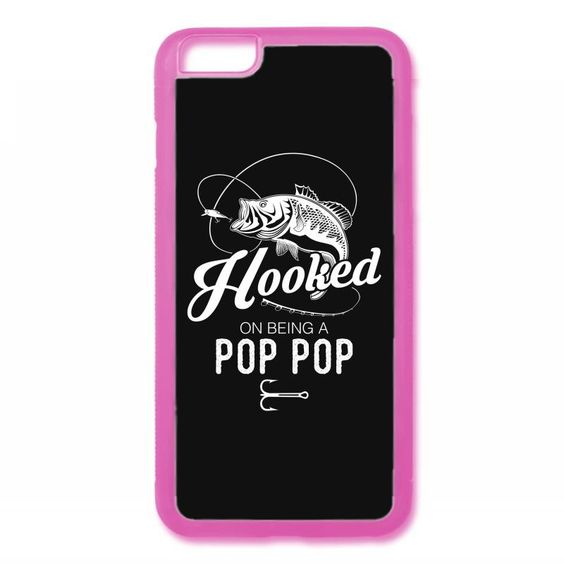 Hooked On Being A Pop Pop iPhone 6/6s Rubber Case