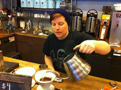 The moral superiority of those who insist on pour over coffee. | 17 Terrible Things About Coffee Shops