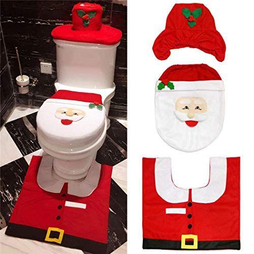 Foshin Cute Cartoon Shape Soft Toilet Lid Cover Bathroom Christmas Ornament Ornaments Red Coupon N Discount Toilet Seat Cover Christmas Bathroom Red Christmas Decor