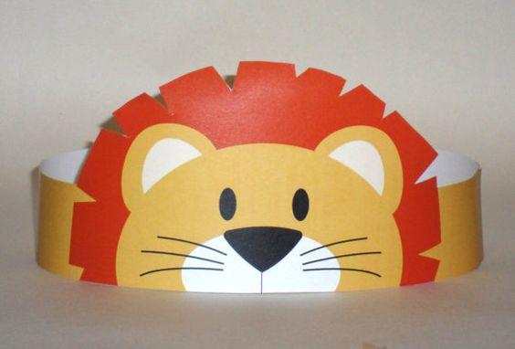 León de papel corona imprimible por PutACrownOnIt en Etsy