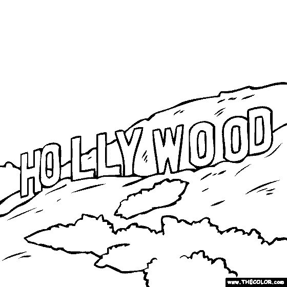 Famous Places in Hollywood Clip Art