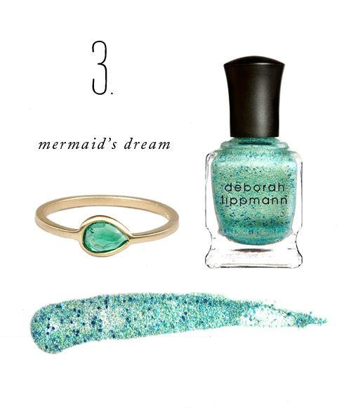Color Story: Mermaid's Dream with the perfect Emerald ring.