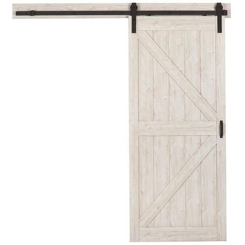 Reliabilt Sandstone Prefinished K Frame Mdf Barn Door Hardware Included Common 36 In X 84 In Actual 36 In X 84 In Lowes Com Door Hardware Barn Door Barn Door Hardware