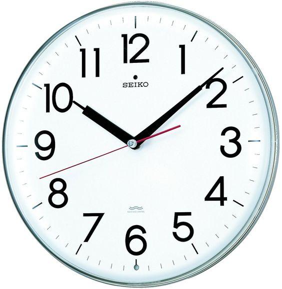 Amazon|SEIKO CLOCK (セイコークロック) 掛け時計 スタイリッシュデザイン 電波時計 ツイン・パ KX301H|置き時計・掛け時計…