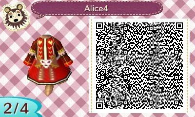 Red queen alice madness qr code acnl acnl wearables pinterest