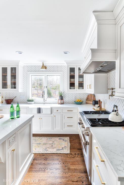 White U Shaped Kitchen Cabinets In Montvale New Jersey Kitchen