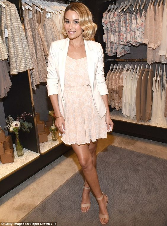 Exciting venture: Lauren is pictured at the launch of the pop-up store with Rifle Paper co...