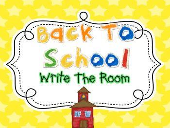 Write The Room Fun {Back To School} $2.50