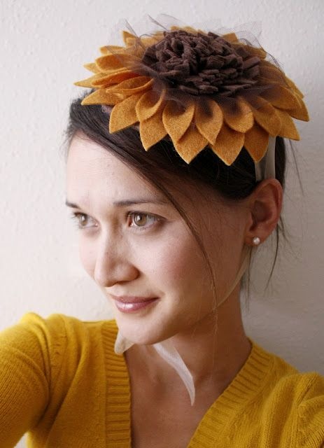 DIY - Sunflower Felt Hat