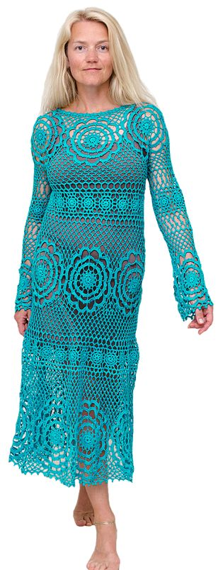 Crochet dress by Natalia Kononova (Outstandingcrochet.com):